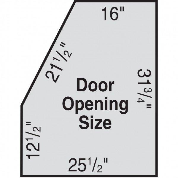 Skat Blast 966 and 976 blast cabinet door dimensions
