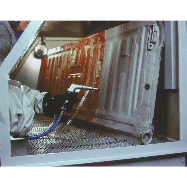 Skat Blast 976 Pro Shop Abrasive Sandblasting Cabinet Action Pic