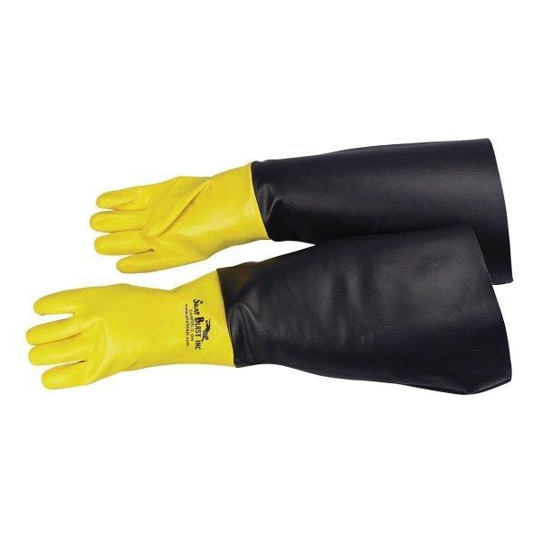 "24""L Skat Blast Abrasive Sandblasting Cabinet Gloves"