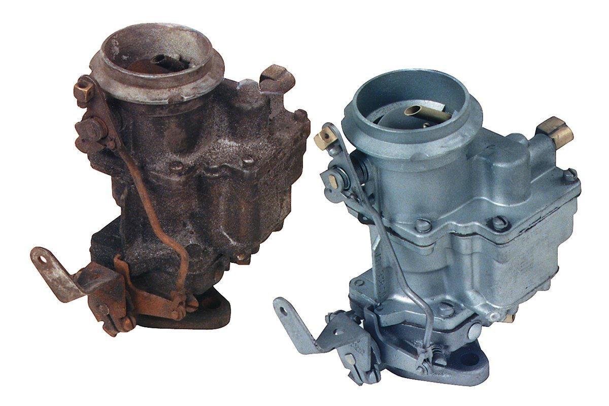 Abrasive Blasting Pic - Carburetor Before & After