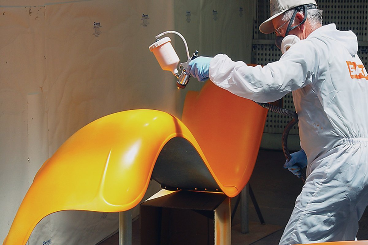 HVLP Turbine Paint Spraying Action Pic 2