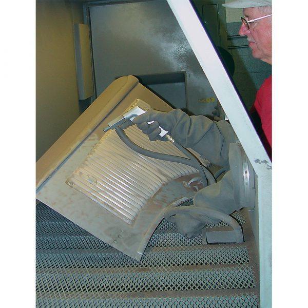 USA 1436 Pro Restorer Abrasive Blasting Cabinet Action Pic
