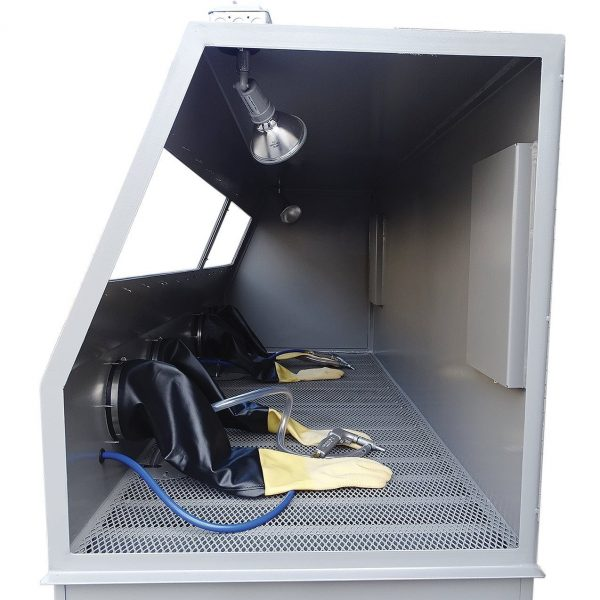 USA 1936 Double Duty Abrasive Blasting Cabinet Inside